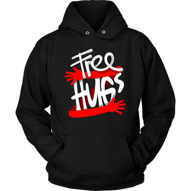 Funny Optimist Free Hugs Hugging Hoodie