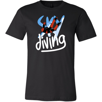 Sky Diving Sports Novelty Gift T shirt