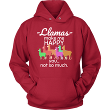 Llamas Make me Happy, You Not So Much Love Funny Llamas Animal Hoodie