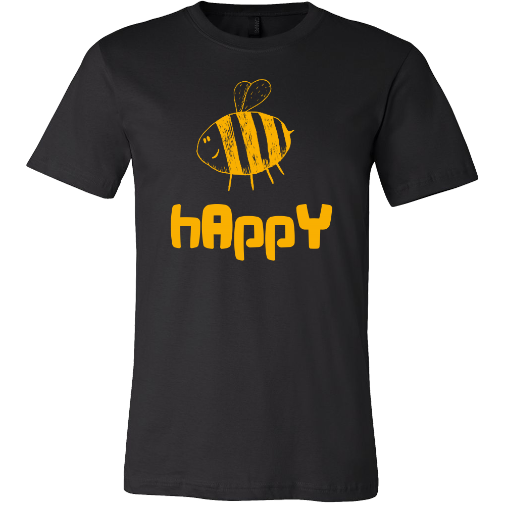 Bee Happy Inspirational Motivational Happiness Quote Tee	shirt