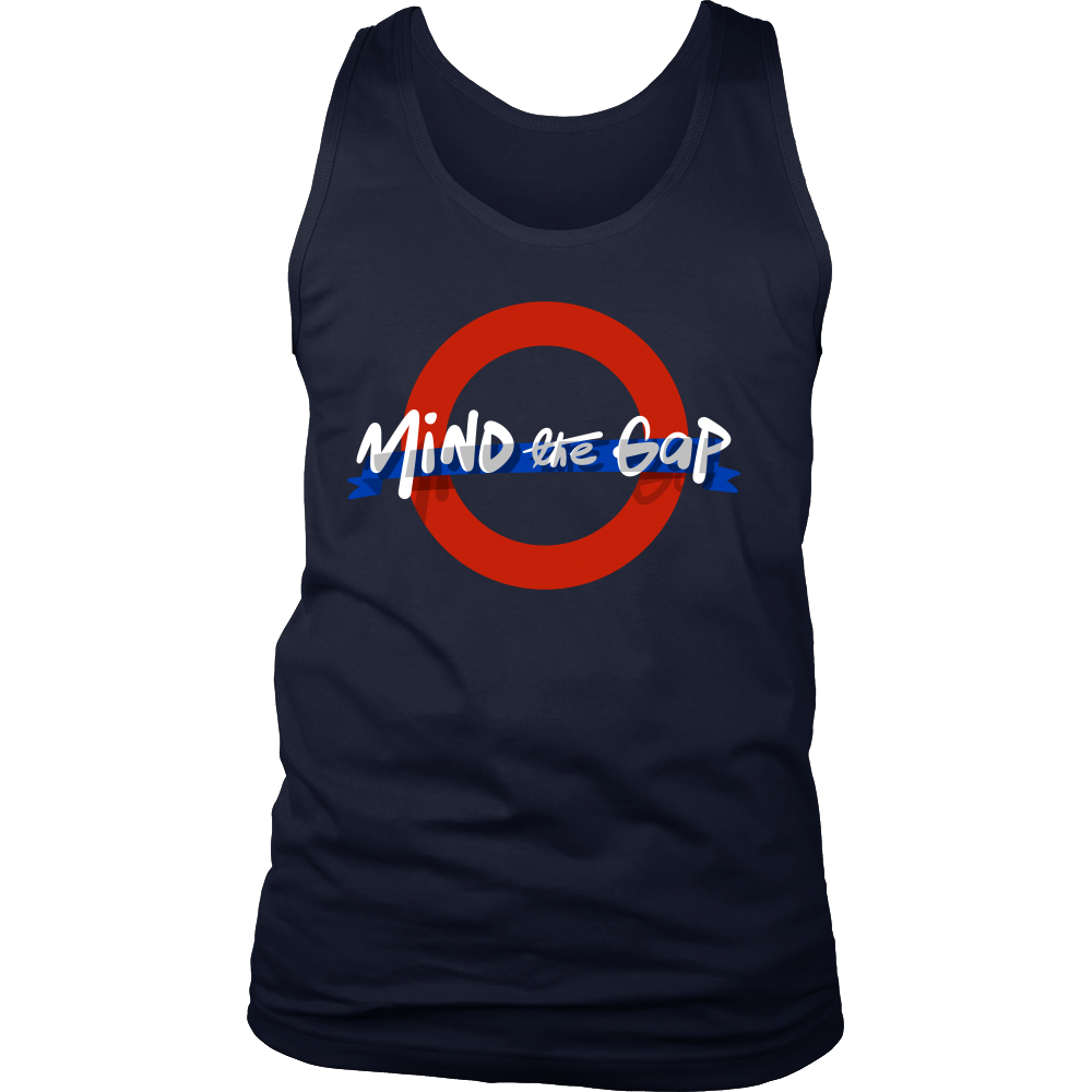 London Underground Funny Mind The Gap UK Tank