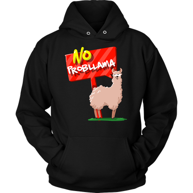 Funny NO Prob-LLAMA Love Llamas Animal Lover Hoodie