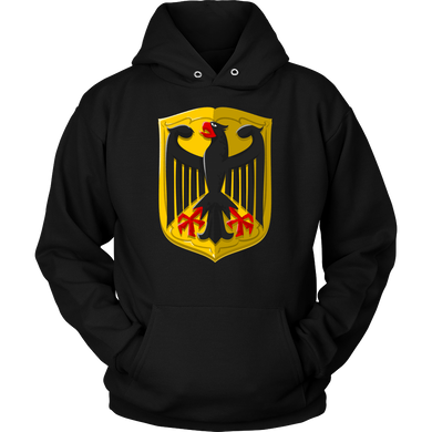 Germany, German Flag Vintage Retro Seal Of Germany Hoodie