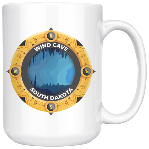 Wind Cave National Park Mug - South Dakota | National Park Art Coffee 11oz - 15oz Mug (v2.0)