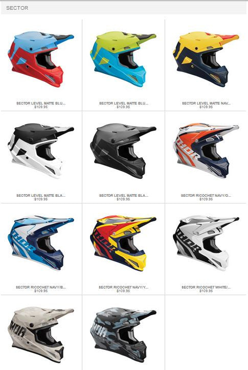 Thor MX New Sector Motocross Helmet at a Great Low Price