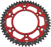 moose racing dual sprockets red
