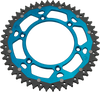 moose racing dual sprockets blue
