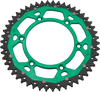 moose racing dual sprockets green