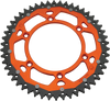 moose racing dual sprockets orange