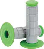 Moose Racing Qualifier Motorcycle Half Waffle Grips Gray / Green