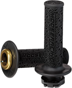 MOOSE RACING 36 SERIES CLAMP-ON GRIPS - Black/Gold - 0630-2535