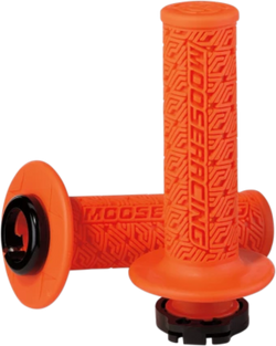 MOOSE RACING 36 SERIES CLAMP-ON GRIPS - Orange/Black - 0630-2538