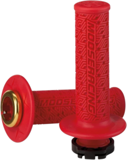 MOOSE RACING 36 SERIES CLAMP-ON GRIPS - Red/Gold - 0630-2539