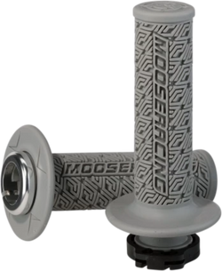 MOOSE RACING 36 SERIES CLAMP-ON GRIPS - Gray/Silver - 0630-2540