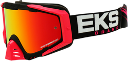 Gox EKS-S Motocross Goggle Black/Pink/Mirror Red