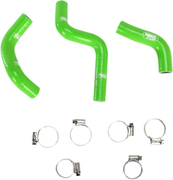 Moose Race Fit Silicone Hose Set Kawasaki KX100/KX85 green