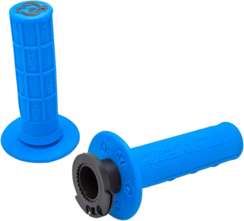 Torc1 Racing Defy MX Lock On Grips for 4 Strokes - Electric Blue - 3750-0312
