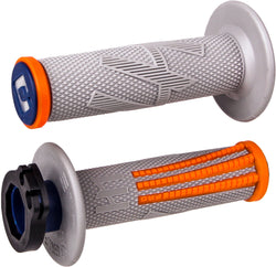 ODI Emig Pro V2 Lock-On Grips Grey/Orange - H36EPGO