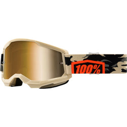100% Strata 2 Goggles - Kombat - True Gold | Moto-House MX