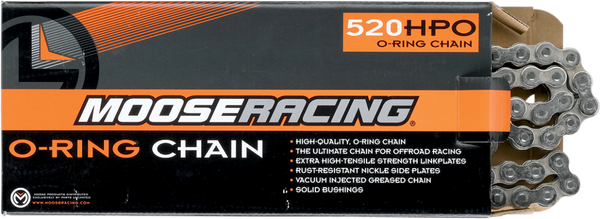 Moose Racing Motocross Chain 520 HPO O-Ring Natural
