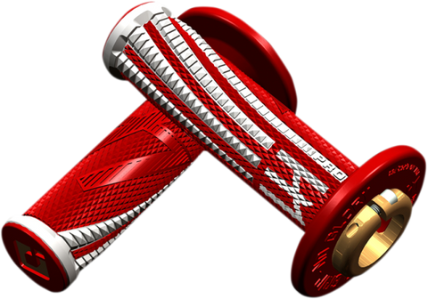ODI Emig Pro V2 Lock-On Grips Red/White - H36EPRW