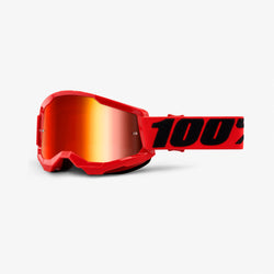100% Strata 2 Goggles Red - Red Mirror Lens - Adult - 50421-251-03
