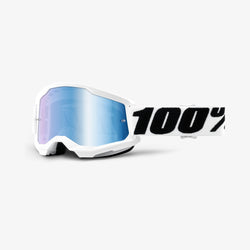 100% Strata 2 Goggles - Everest White - Blue Mirror Lens - Adult - 50421-250-12