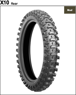 Bidgestone BattleCross X10 Motocross Mud/Sand Tire