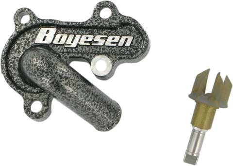 Boyesen Factory Racing SuperCooler Water Pump Cover & Impeller Suzuki RM85 Silver | Moto-House MX