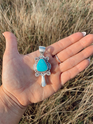 Turquoise Blossom Pendant