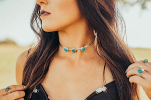 Turquoise & Teepees Choker