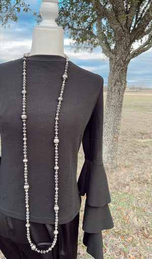 "60"" Varying Size Navajo Pearls"