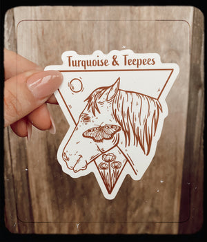 Turquoise & Teepees Sticker