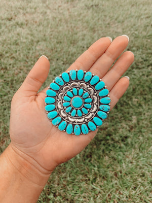 Turquoise Cluster Pin/Pendant