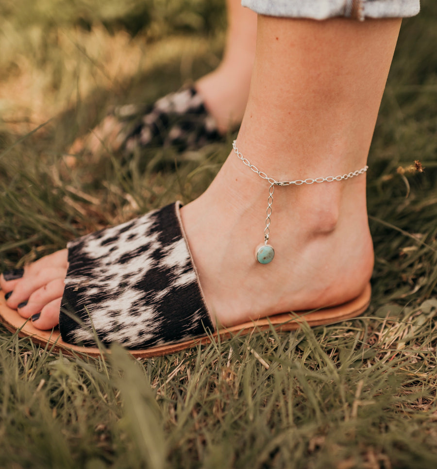Turquoise & Teepees Anklet
