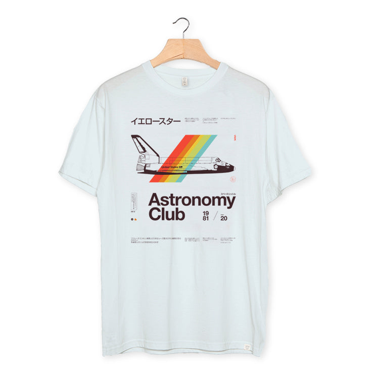 camiseta algodón orgánico - Astro Club color baby blue