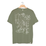 camiseta algodón orgánico - Go Somewhere color khaki