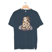 camiseta algodón orgánico - Venus Sloth color ink grey