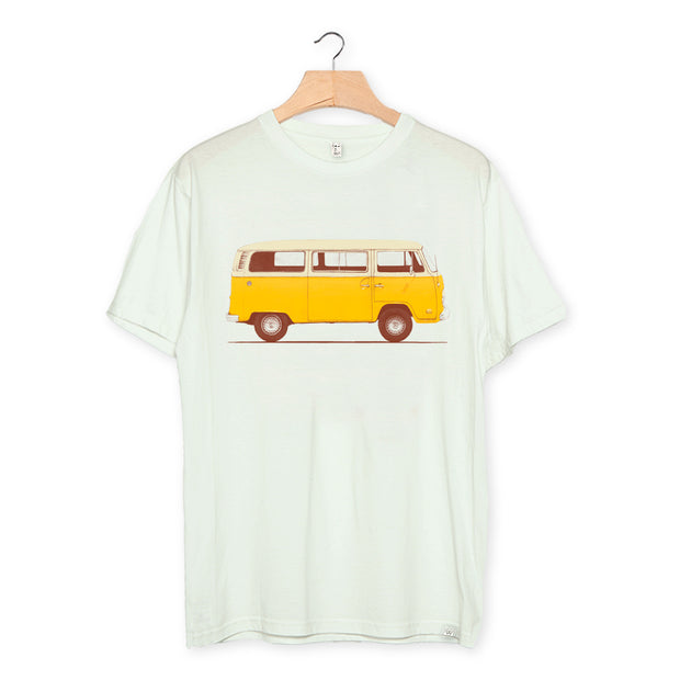 camiseta algodón orgánico - Yellow Van color light opaline