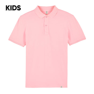 Cotton Pink Polo Shirt KIDS - Wituka
