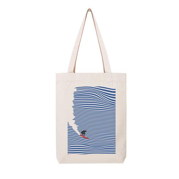 Surfing Jaws - Tote Bag