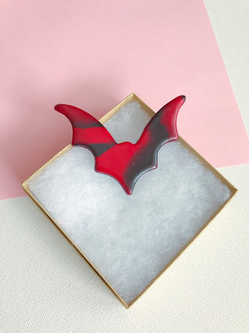 Bat Hair Clip, Marbled