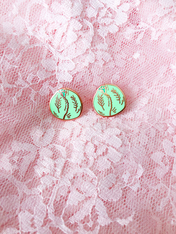 Head of Lettuce Stud Earrings