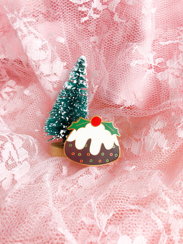 Christmas Pudding Enamel Pin