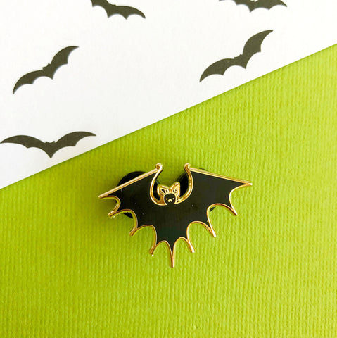 Spiky Bat enamel pin