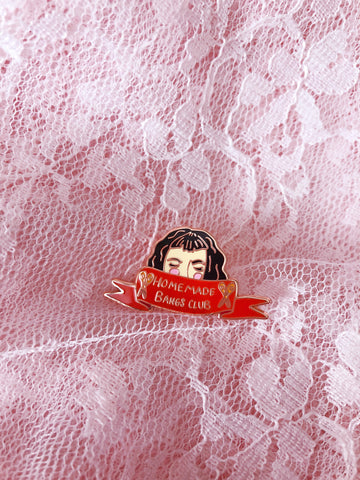 HOMEMADE BANGS Enamel Pin