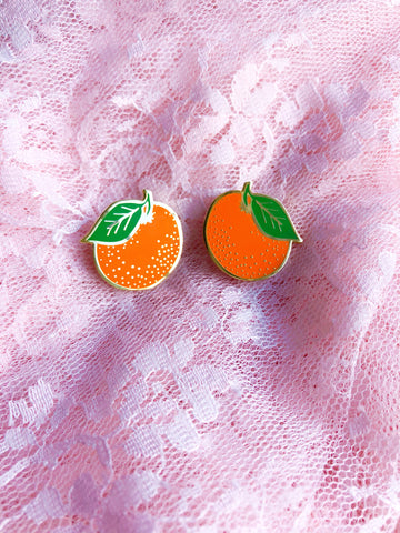 Florida Orange stud earrings