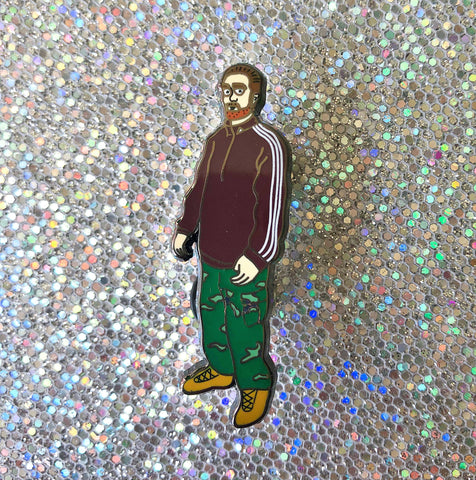 Track Suit Rob enamel pin