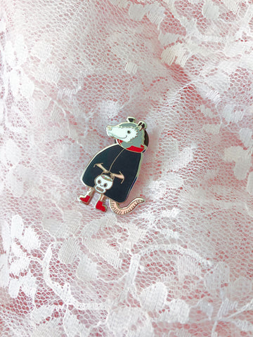 Vampire Possum Pin