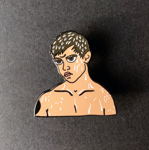Rainy Jake enamel pin